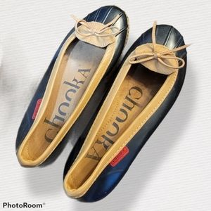 Chooka skimmer, size 10, black rain shoe flats